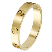 Gold plated Stainless Steel Screw Head engagement ring