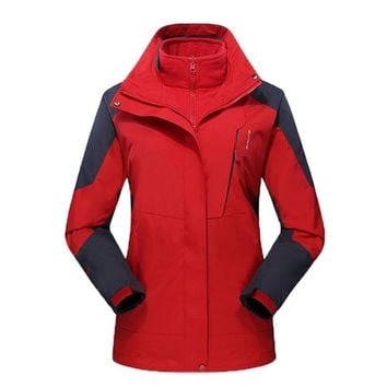 L-5XL Men Women Winter Outdoor Sport Jacket Windproof Breathable Inner Fleece Warm Coat For Hiking Camping Travel Skiing Jacket