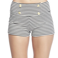 Striped Sailor Shorts | Wet Seal