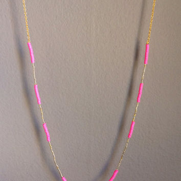 Tickled Pink & Gold Necklace
