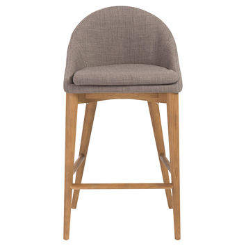 Baruch Counter Stool, Dark Gray/Walnut, Bar & Counter Stools