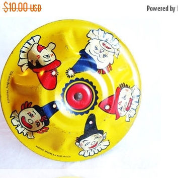 SALE 30% OFF 1928 Kirchoff Rattle, 'Life of the Party' Noisemaker, Gatsby Style Party Favor, Nursery/Playroom/Gameroom Decor, Clown Rattle R