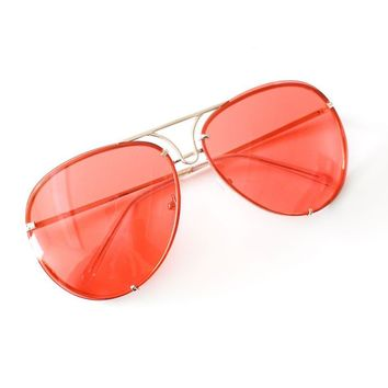 Aviator Sunglasses - Red