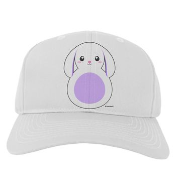 Cute Bunny with Floppy Ears - Purple Adult Baseball Cap Hat by TooLoud