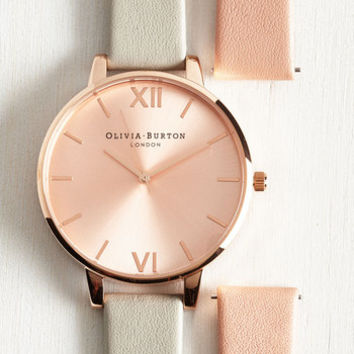 Menswear Inspired Fully Punctual Watch Set by Olivia Burton from ModCloth