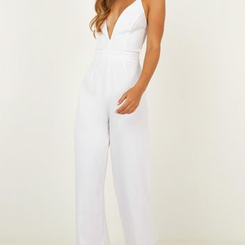Dream Of Jumpsuit In White Produced By SHOWPO