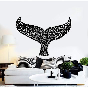 Vinyl Wall Decal Whale Tail Marine Animal Room Decor Stickers Unique Gift (ig4359)