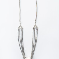 Prism Bomb Crystal Necklace - Silver