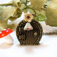 Locket Door Necklace by CuteAbility on Etsy