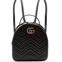 GG Marmont quilted-leather backpack | Gucci | MATCHESFASHION.COM US