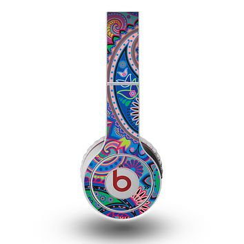 The Bold Colorful Paisley Pattern Skin for the Original Beats by Dre Wireless Headphones