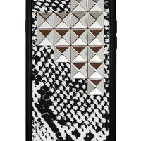 Snakeskin Silver Studded Pyramid iPhone 6 Case