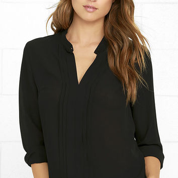 In Tune Black Long Sleeve Top