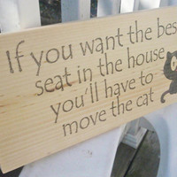 Cat sign, home decor, funny cat sign, cat decor, cat lover, FREE SHIPPING