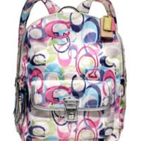 Coach Limited Edition Ikat Backpack Daypack Bag 19872 Multi