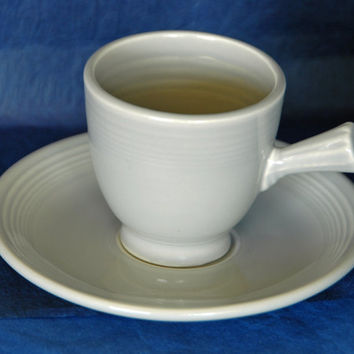 Vintage FIESTAWARE GRAY DEMITASSE Coffee Cup Ca 1950s in Mint Condition