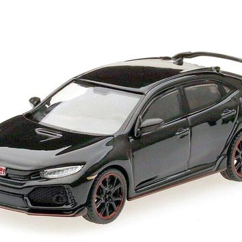2.75 Inch 2017 Honda Civic Type R - FK8 - BLACK - 1/64 Scale Diecast Model by TSM Model