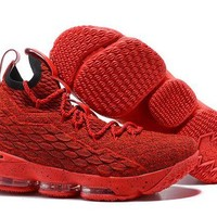 ONETOW Jacklish All Red Nike Lebron 15 Red October For Sale