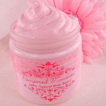 Pink Coconut Cream Body Butter 100 Natural 4 oz by pamperedmoments