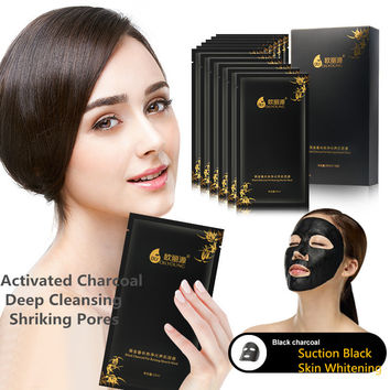 Moisturizing Face Masks Deep Cleansing Black Mask Activated Charcoal Pore Cleanser Lifting Skin Care Whitening Beauty Mask 20pcs