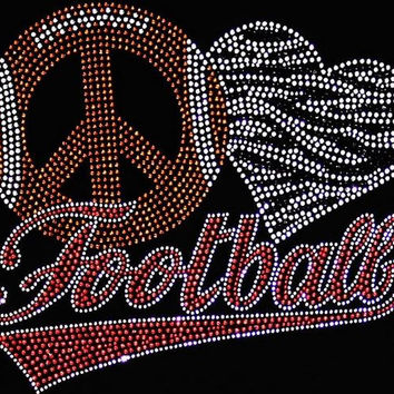 Rhinestone Football T-Shirt - Bling Shirt