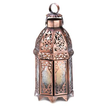 Copper Moroccan Candle Lamp 10013366