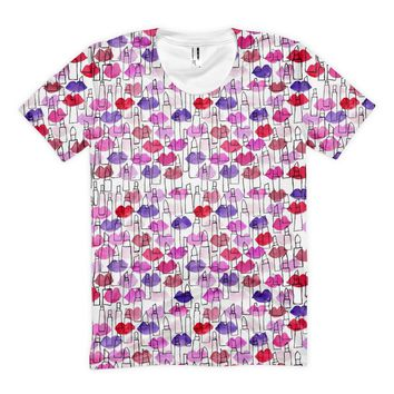 Lips and Lipstick Outlines T-shirt