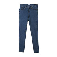 Blue Basic Simple Skinny Jeans