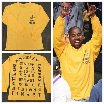 ca qiyif Kanye West I Feel Like Long Sleeve