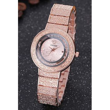 Versace Women Fashion Quartz Movement Watch WristWatch