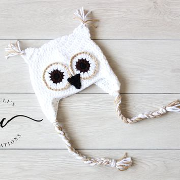 Crochet Barn Owl Hat for Babies and Kids