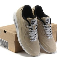 NIKE Women Men Running Sport Casual Shoes Sneakers BEIGE