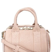 Alexander Wang 'Mini Rockie - Pale Gold' Leather Crossbody Satchel - Beige