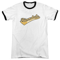 ARCHIE COMICS/RIVERDALE HIGH SCHOOL - ADULT RINGER - WHITE/BLACK -