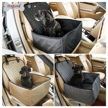 2016 new arrival Foldable Pet Carriers Storage Bag Waterproof Safety Front Back Seat Dog Cat Car Hammock Carrier Basket New