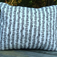 Music Note Reversible Pillow