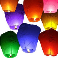 Sky Lanterns Chinese Paper Sky Candle Fire Balloons for Wedding Party = 1932007364