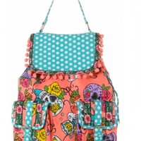 """Sweet Tooth"" Backpack by Iron Fist Clothing (Coral)"