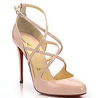 Christian Louboutin - <br>Patent Leather Strappy Pumps - Saks Fifth Avenue Mobile