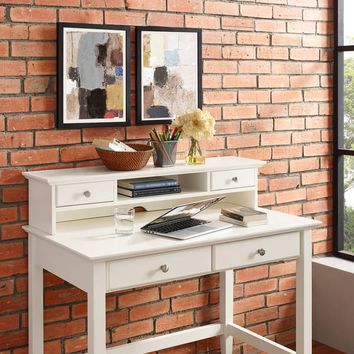 Crosley Furniture Campbell White Wood Hutch | Overstock.com Shopping - The Best Deals on Desks