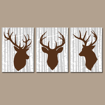 DEER Wall Art, CANVAS Or Prints Rustic Country Artwork, Baby Boy Nursery,  Boy