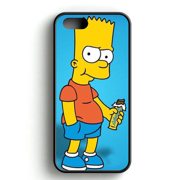 Bart Simpsons Eat Chocolate iPhone 4s iPhone 5s iPhone 5c iPhone SE iPhone 6|6s iPhone 6|6s Plus Case