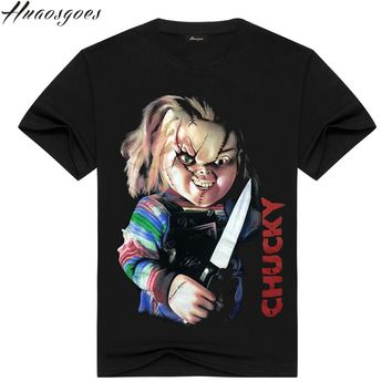 Chucky Devil Baby Hip Hop T Shirt Men 3D Print Fashion High Quality Mens Tshirt Cotton Gift T-shirt for Male Short Sleeves
