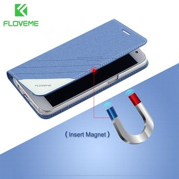 FLOVEME Magnetic Flip Leather Case For iPhone X 8 7 6s 6 Plus Card Slot Stand Wallet Cover Cases For iPhone 5s 5 SE Accessories