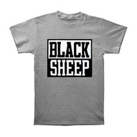 Black Sheep Men's  Block Logo T-shirt Grey Rockabilia