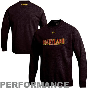 Under Armour Maryland Terrapins Charged Performance Crew Sweatshirt - Black