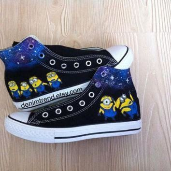 DCCKGQ8 galaxy minion shoes converse