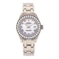Rolex Datejust Pearlmaster 18K White Gold Swiss Automatic Ladies Watch 80299