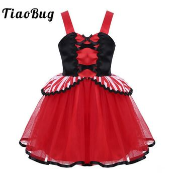 Cool TiaoBug Girls Halloween Cosplay Pirate Costume Party Dress for Kids Wide Straps Sweetheart Neck Infant Baby 1st Birthday DressAT_93_12