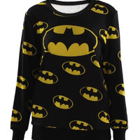 Batman Logo Jumble Dark Sweatshirt (Color: Black) = 1927994116